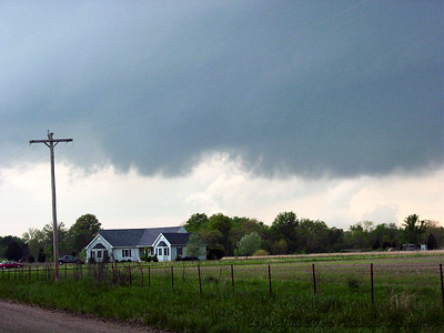 Looking Northwest From NE Coal Valley Road And NE 30th Street 1 Mile North Of Weir, Kansas At a Wall Cloud