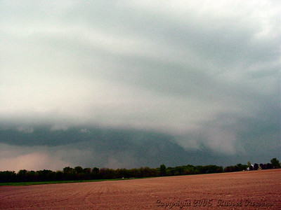 Looking North From 3 Miles East Of NE Scammon Road And U.S. 69 Hwy. At a Wall Cloud