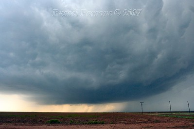 Looking West From Texas Farm Road 809 And Texas Farm Road 22 Northeast Of Hereford, Texas At A Wall Cloud