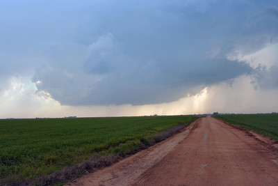 Looking West From Kansas 14 Hwy. And 82nd Ave South Of Sterling, Kansas At A Wall Cloud