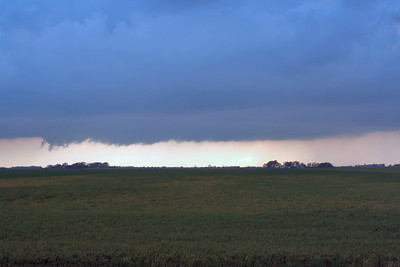 Looking South From Ave. Y And 108th Ave. Approximately 3 Miles Southeast Of Sterling, Kansas At A Wall Cloud