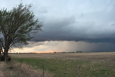 Looking Northwest From North Plum Street and Cherokee Road About 8 Miles West Of Inman, Kansas At A Supercell Thunderstorm