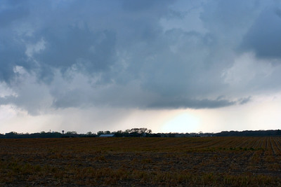 Looking West From 1 Mile Northeast Of Sterling, Kansas At A Disapating Wall Cloud