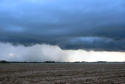 Looking North From 82nd Ave. And Heren Road 1.5 Miles East Of Nickerson, Kansas At A Wall Cloud