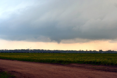 Looking South From Ave. Y And 108th Ave. Approximately 3 Miles Southeast Of Sterling, Kansas At A Funnel Cloud