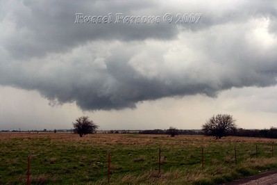 Looking Northwest From S. 4320 Road And East 200 Road To The Southeast Of Centralia, Oklahoma At A Wall Cloud
