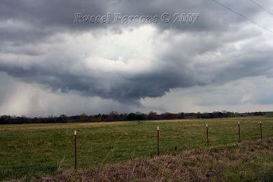 Looking West/Northwest From S. 4320 Road And East 200 Road To The Southeast Of Centralia, Oklahoma At A Wall Cloud
