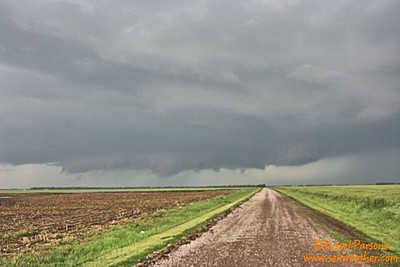 April 16, 2016 - Looking West At A Wall Cloud From Southwest Of Mayfield, Kansas