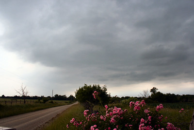 Looking North At Severe Thunderstorms East Of Chanute, Kansas.