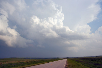 Looking South At Severe Storms From Kansas 177 Hwy. South Of Council Grove, Kansas.