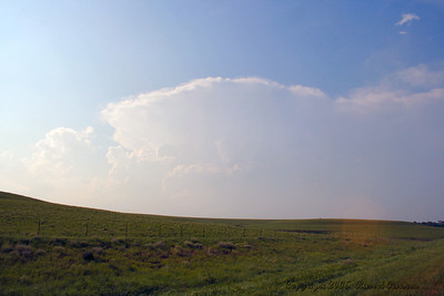 Looking North At Severe Storms From Kansas 177 Hwy. South Of Council Grove, Kansas.