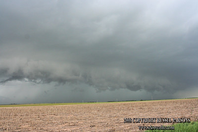 Looking North From Northeast Of Bushton, Kansas At A Wall Cloud