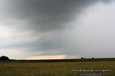 Looking West From Between Avilla And Golden City, Missouri At A Wall Cloud