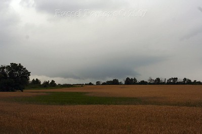 Looking South In Cherokee County Kansas At A Wall Cloud