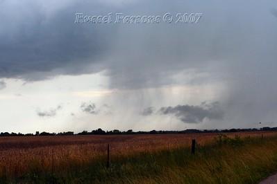 In Cherokee County Kansas Looking At A Rain Shaft