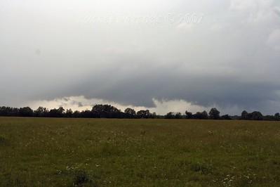 Wall Cloud South Of Hillsboro, Kansas And Shelf Cloud Northeast Of Newton, Kansas.