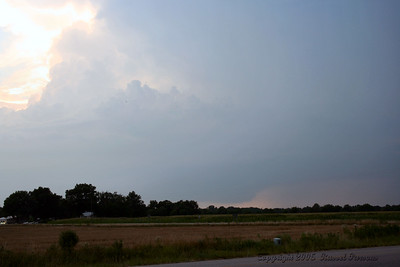 Looking Northwest Of U.S. 400 Hwy and Wallace Road In Labette County At A Tornado Warned Storm