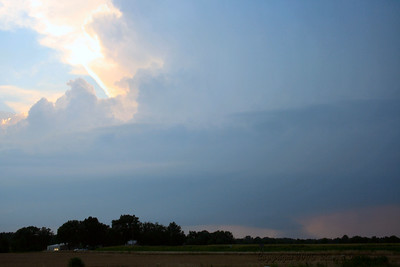 Looking Northwest Of U.S. 400 Hwy and Wallace Road In Labette County At A Wall Cloud