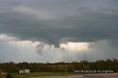 Looking North From Between Soper And Hugo, Oklahoma On U.S. 70 Hwy. At A Wall Cloud