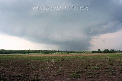 Looking North From Near Birch Road And 200th Street South Of Ft. Scott, Kansas At A Distant Wall Cloud