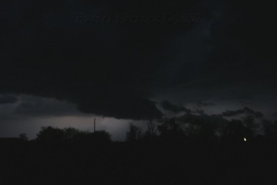 Looking West From 2 Miles North Of Arma, Kansas On U.S. 69 Hwy. At A Wall Cloud