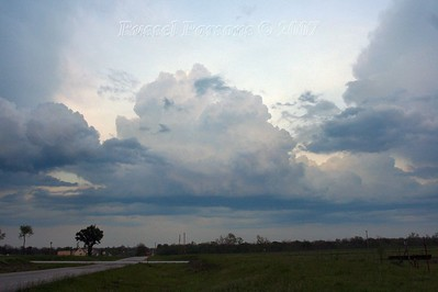 Looking East From U.S. 69 Hwy. And Deer Road 6 Miles South Of Fort Scott, Kansas At A Cumulonimbus Cloud