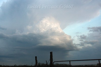 Looking South From U.S. 69 Hwy. And Deer Road 6 Miles South Of Fort Scott, Kansas At A Severe Thunderstorm