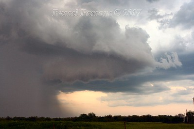 Looking East From North 270th Street Between Mulberry and Arcadia, Kansas At A Wall Cloud