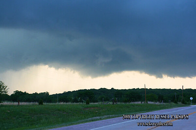 Looking North From Near Cromwell, Oklahoma At A Wall Cloud