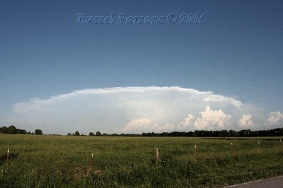 Looking Southeast From North Of Purcell, Missouri At A Supercell Thunderstorm