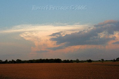 Looking Southeast From East Of Asbury, Missouri At A Supercell Thunderstorm
