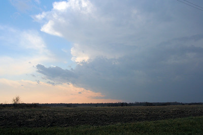 Looking Southwest From Kansas 146 Hwy. and Udall Road In Northern Neosho County Kansas At An Approaching Wall Cloud