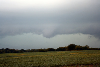 Looking West/Southwest From East Of Miami, Oklahoma At A Shelf Cloud