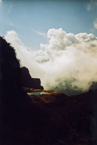 Hiking the Andes, above the clouds, along the Machu Pichu trail - Peru