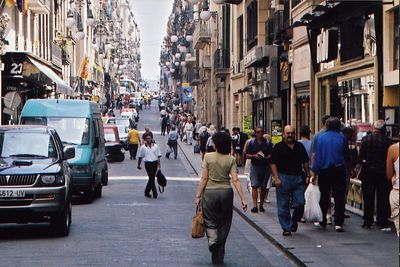 The Hustle and Bustle of a Barcelona Street