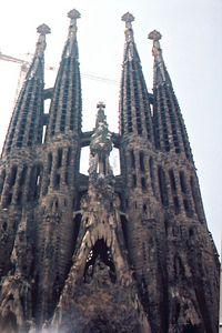 """Gaudi - Sagrada Familia - Church of the Holy Family from 1882 to 1926""  Barcelona, Spain"