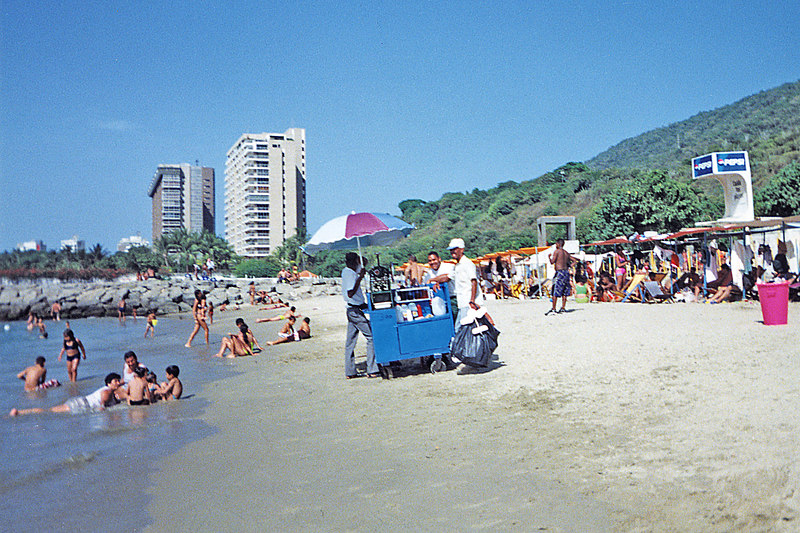 The beach near Caracas