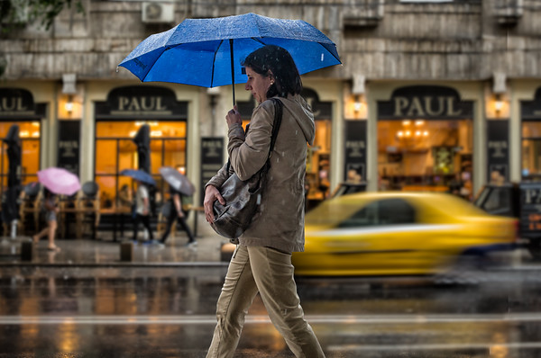 Colors of the Rain | Street Photography Bucharest Romania
