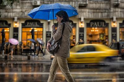 Colors of the Rain | Street Photography Bucharest Romania