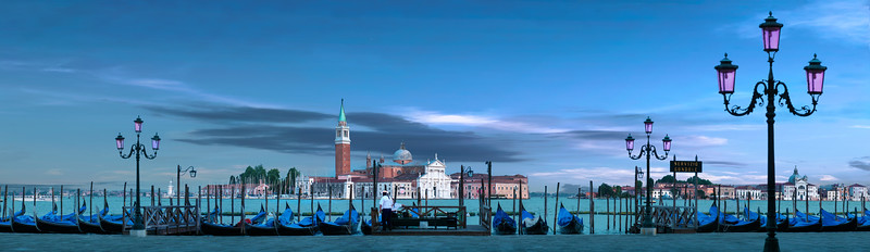 Venice Italy Venezia Italia Large Wide Panorama Picture Image Photo Venetian Lagoon Gondola Gondolier Gondel Creative Travel Architecture Photographer Inspiration Wall Art Wallpaper Background Decoration Poster Art