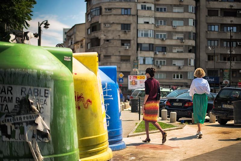 Meow   Street Scene in Bucharest Romania Contemporary Fine Art Street Photography