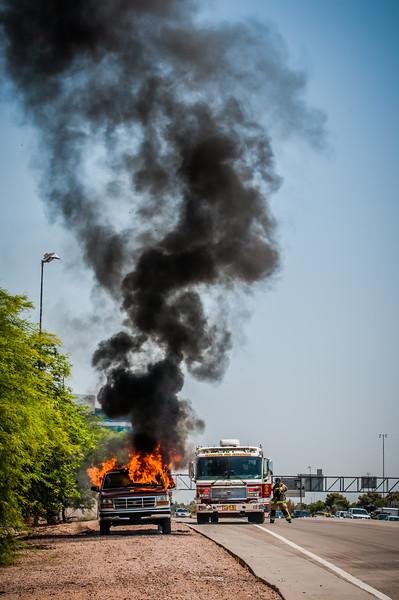 Guadalupe Fire Car Fire-1111