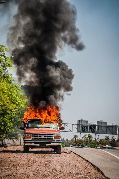 Guadalupe Fire Car Fire-1087