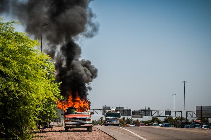 Guadalupe Fire Car Fire-1098