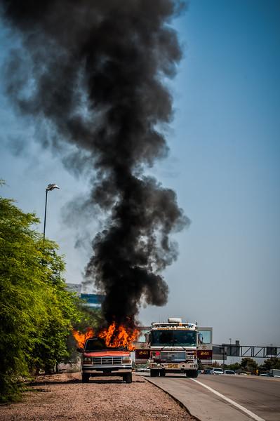 Guadalupe Fire Car Fire-1108