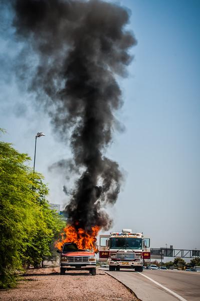 Guadalupe Fire Car Fire-1107