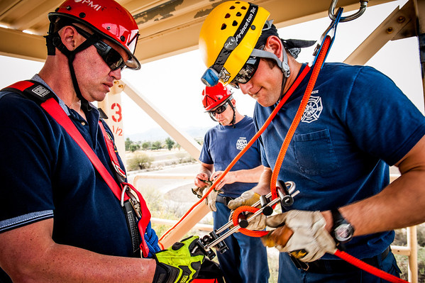 Rural Metro Ropes Rescue Drill