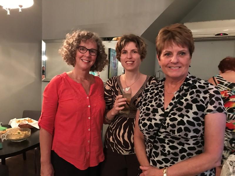 Lynn Gulliver, BSW'87; Kathryn Asher BA'03 and Jane Asher, BA'72 BSW'86
