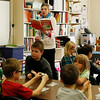 HOLLY PELCZYNSKI - BENNINGTON BANNER Monument Elementary school first grade teacher Mrs. Harrington reads the Dr. Seuss book Bartholomew and the Oobleck on Thursday March 2 to celebrate his birthday. Her students played with Oobleck while listening to the story.