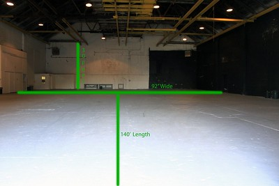 STUDIO A The dimensions of Studio A are 92' wide and 140' in length with a height of 30'. Air Conditioning and Heat is available so that production could be done anytime of year for your comfort. Office spaces are also available in the studio.  EXPRESS LINK:http://www.eastofhollywoodny.com/studios/studio-a/